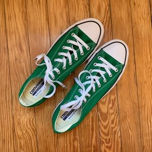 🆕 Mens Classic Converse Sneakers Green & White